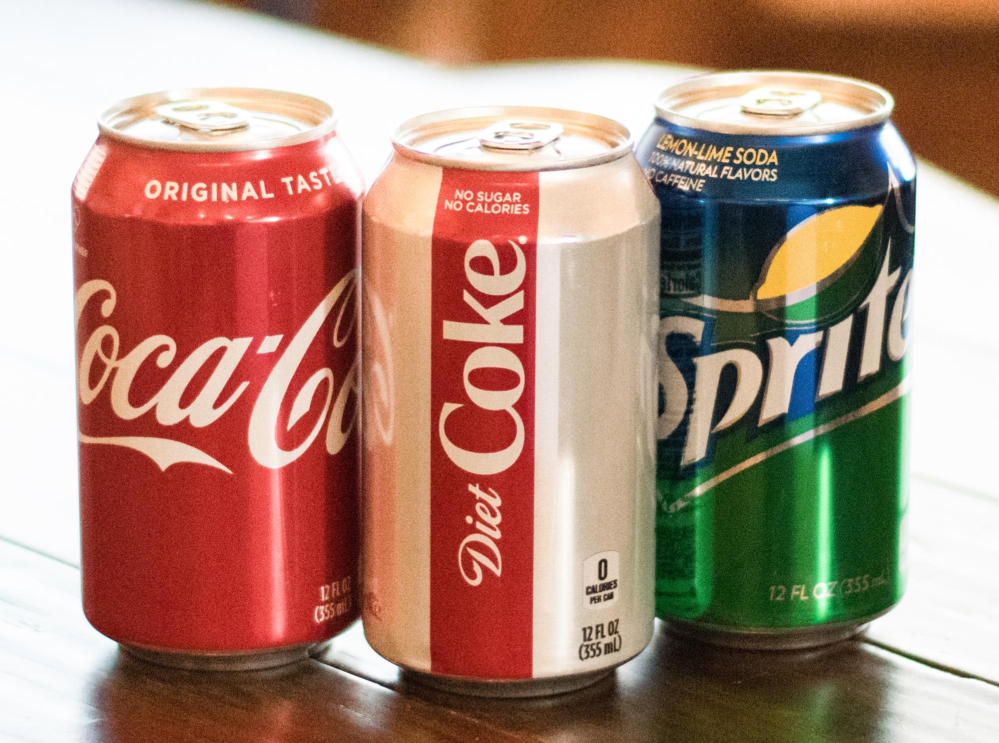 Coke, Diet Coke, Sprite (can)